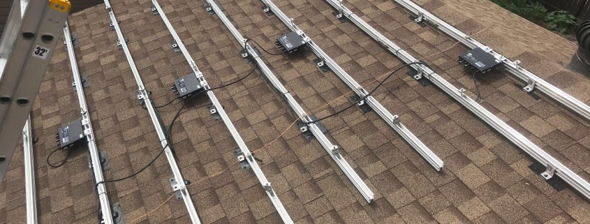 installing solar panels on a roof - residential solar