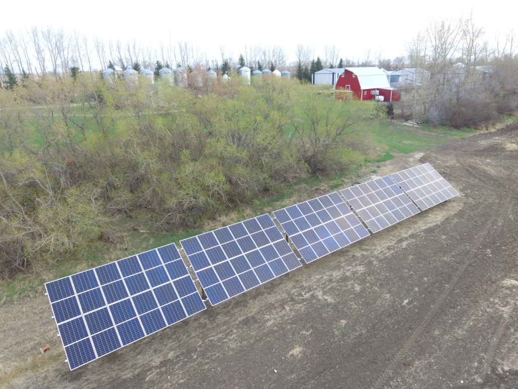 Solar Panels Farm - Edenwald RM - Saskatchewan - Prairie Sun Solar