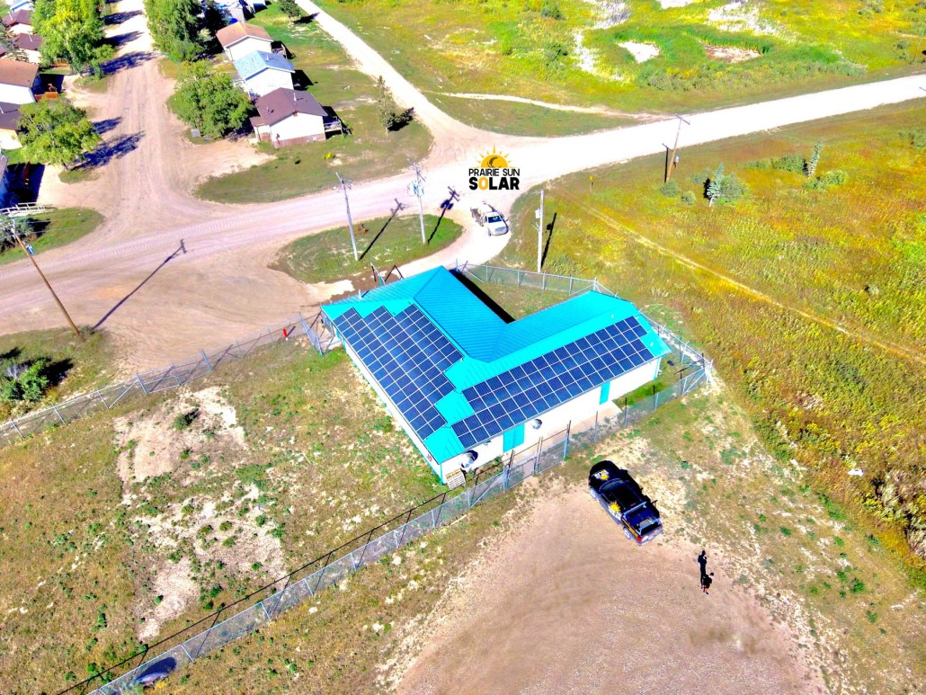solar panels first nations water treatment plant