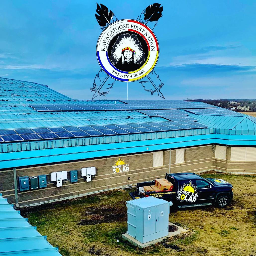 Kawacatoose First Nation - Solar Panels on the School