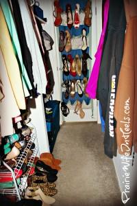 Clean closet inside