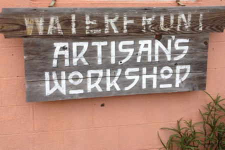 workshop sign