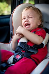 screaming toddler in car seat