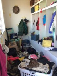 mudroom messy