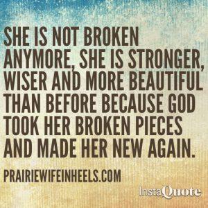 she is not broken