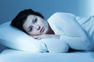woman not asleep