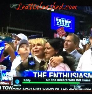 Lea at Trump Rally