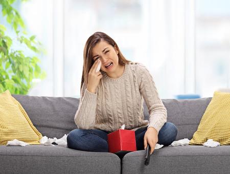 sad watching TV
