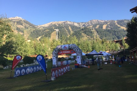 jackson hole half finish line