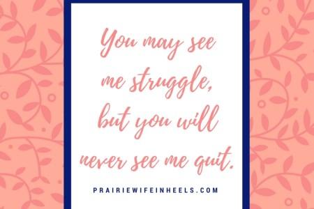 struggle and move on