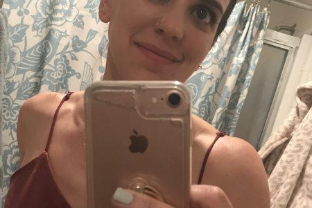 dermaplaning selfie