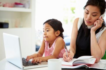 busy working mother
