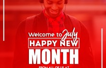 Welcome to JULY! Happy New Month From all of us at Praisejamzblog
