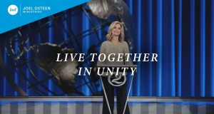 """[SERMON] """"Live Together in Unity"""" – Victoria Osteen"""