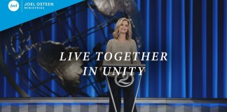 "[SERMON] ""Live Together in Unity"" – Victoria Osteen"