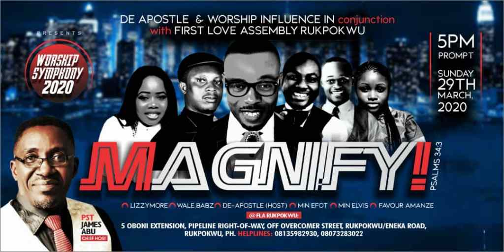 """De-Apostle & """"Worship Influence"""" are also gearing up for a music concert"""