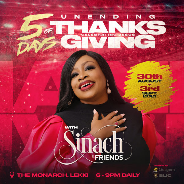 """Sinach & Friends Preps Live Concert In Lagos tagged """"Unending Thanksgiving"""""""