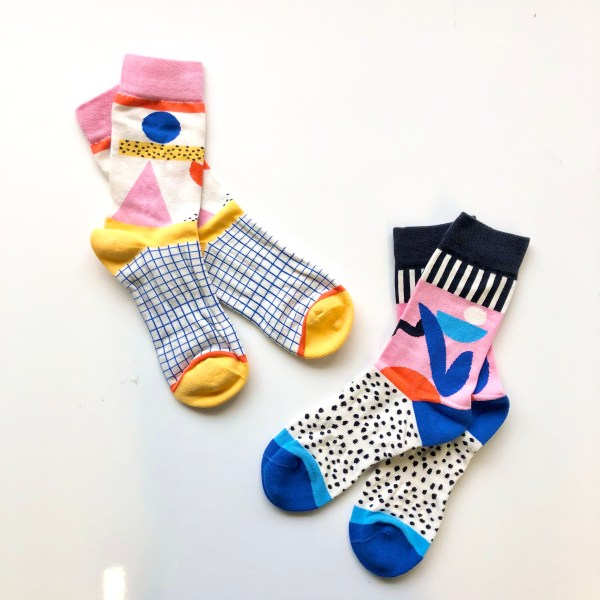 Yellow and blue socks from Ashley Mary