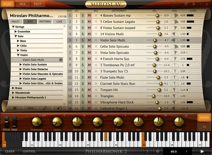 Philharmonic 2 - Play Screen