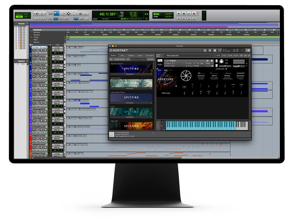 Arpeture Orchestra GUI On Computer
