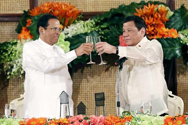 President Sirisena in Manila with President Duterte