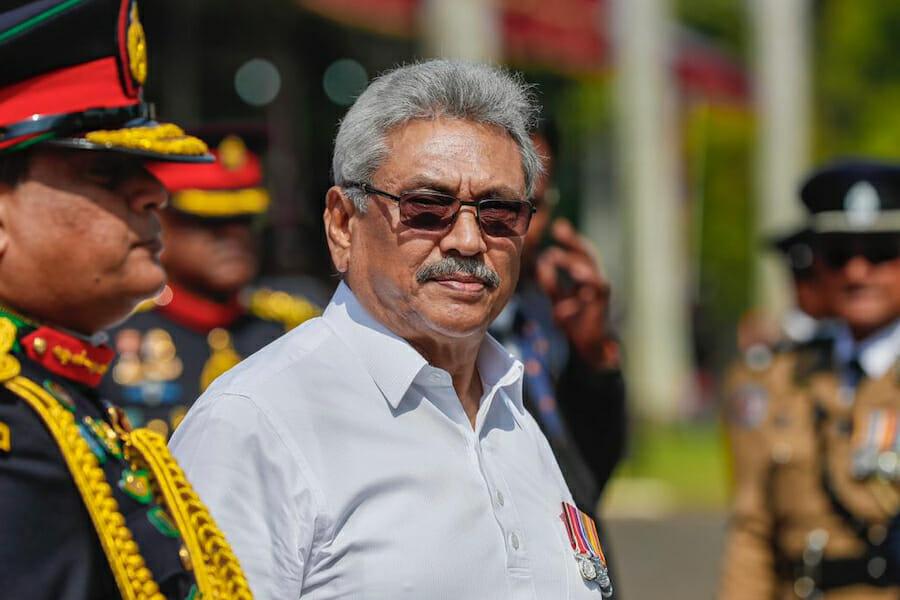 Gotabaya Rajapaksa with medals