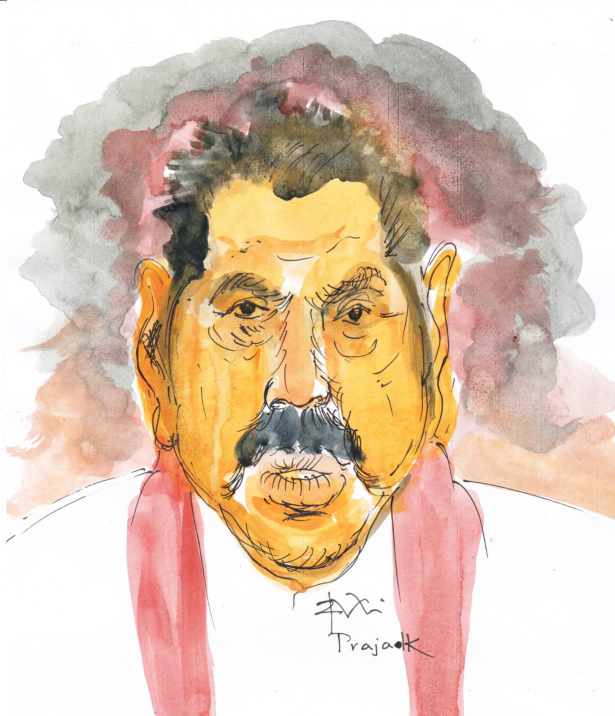 Mahinda caricature by Ajith Perakum Jayasinghe
