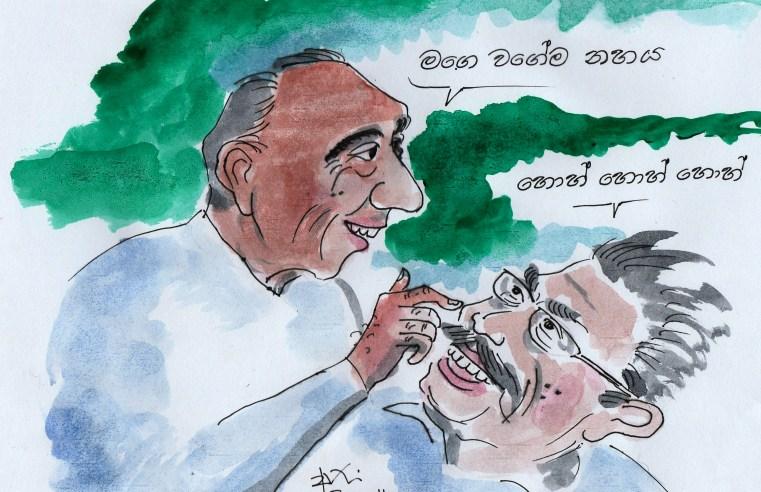Gotabaya Rajapaksa with JR