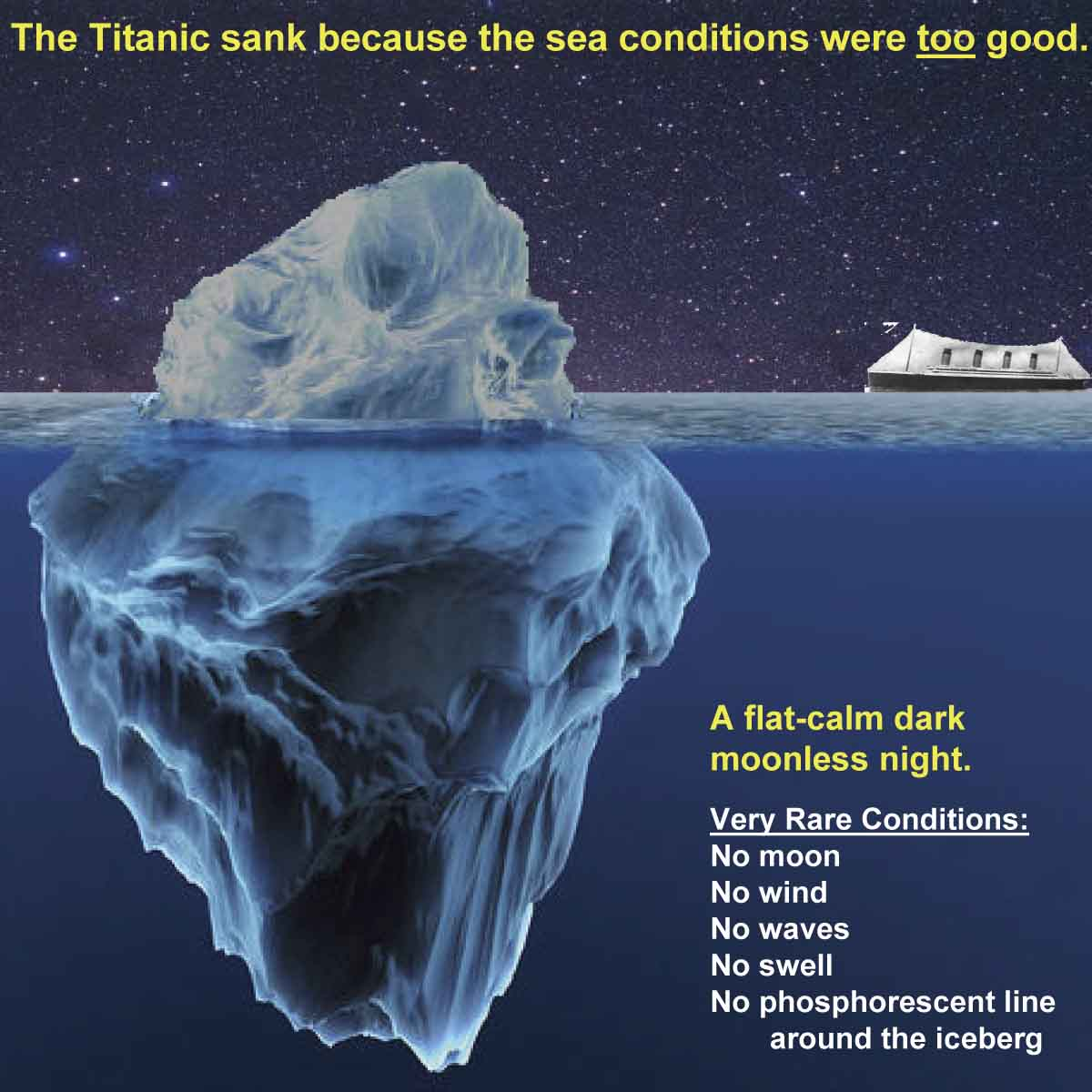 The Titanic Sank Because The Sea Conditions Were Too Good
