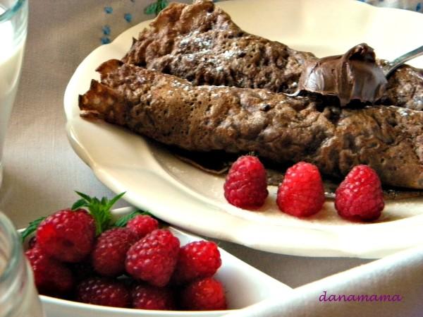 clatite cu ciocolata si zmeura3