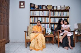 Mrs. Sayeed with her grand daughters