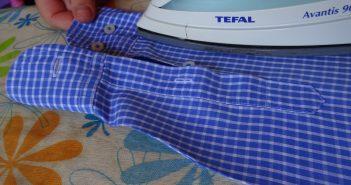 σιδέρωμα μανικιού πουκαμίσου