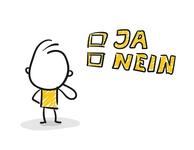 Strichfiguren / Strichmännchen: Wahl, Ja, Nein. (Nr. 139)