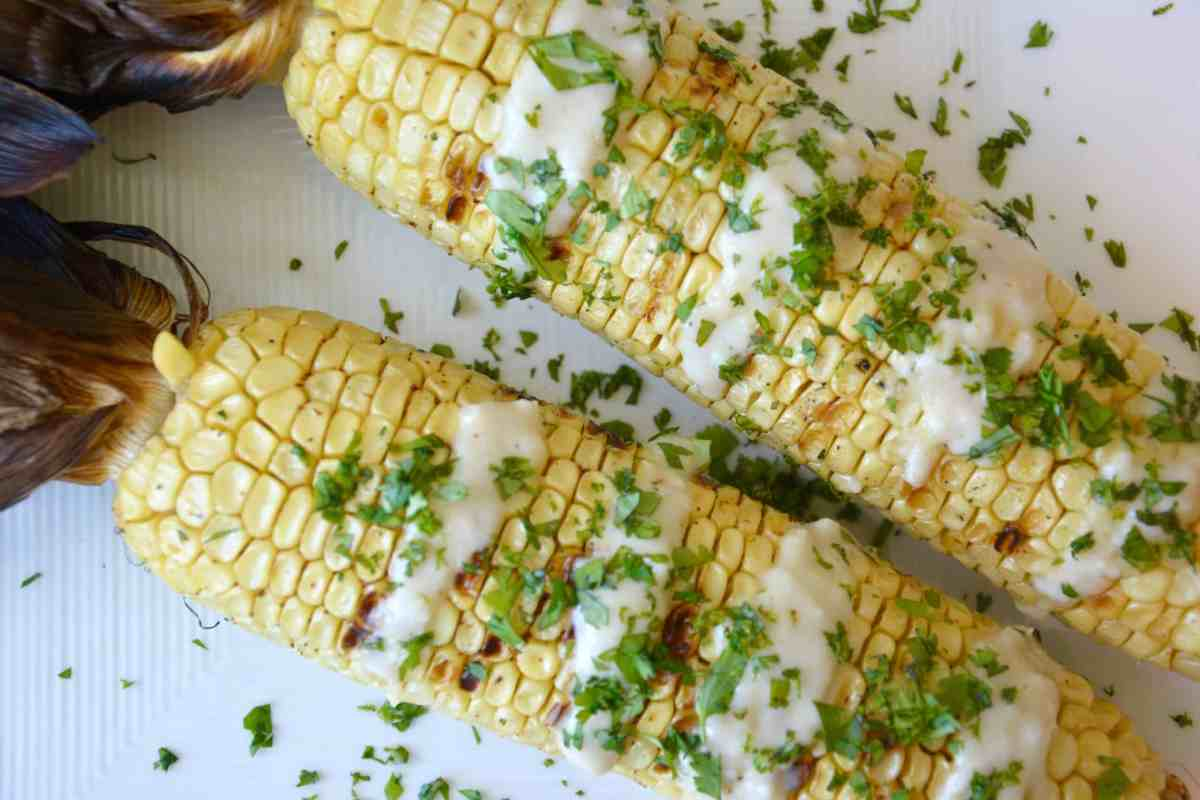 Grilled Corn on the Cob with Coconut Lime Glaze