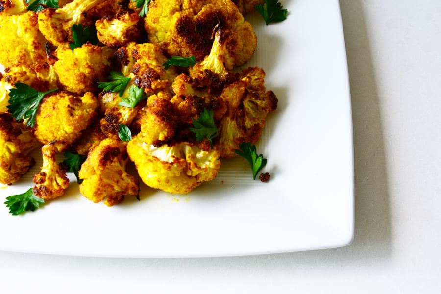 Roasted Curry Cauliflower