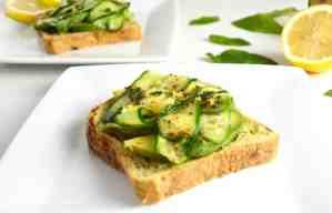 Cucumber and Avocado Toast