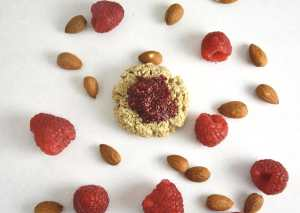 Lemon Thumbprint Cookies with Chia Raspberry Jam