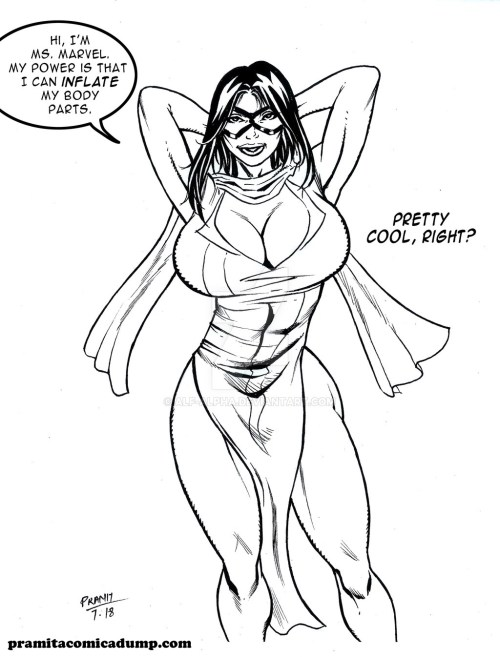 My first ms.marvel drawing by Pramit