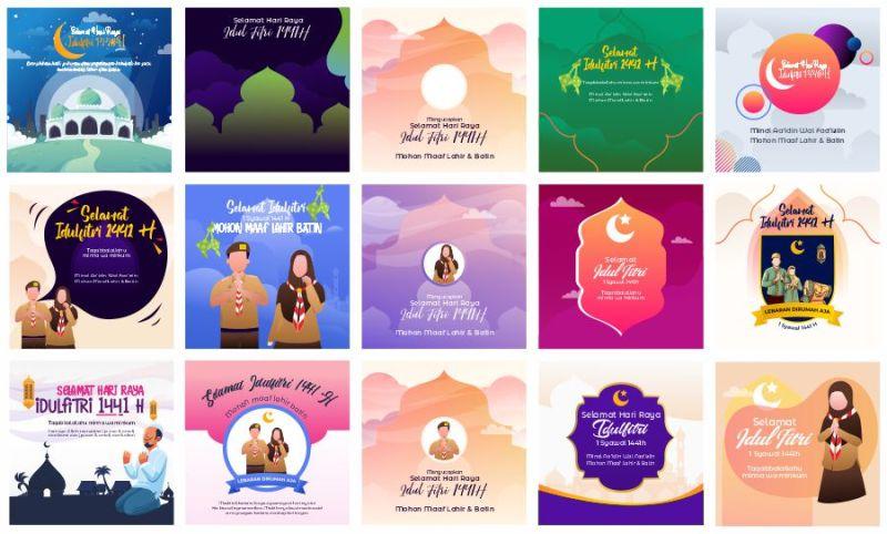 Download Template ucapan Idul Fitri 2020 Terbaru
