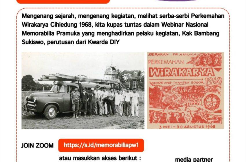Webinar Nasional Memorabilia Pramuka Wirakarya 1968