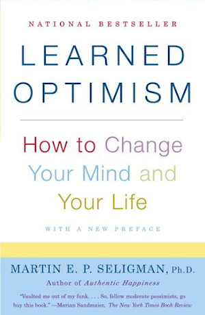 Graphic of book cover for Learned Optimism