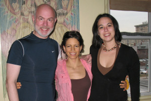 Andrea Franchini (middle) with Stephanie and me