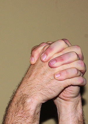 Photo: clasped hands
