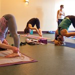 Photo: yoga class