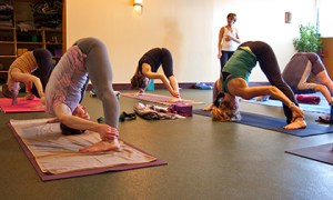 Photo: yoga class at Thrive Yoga