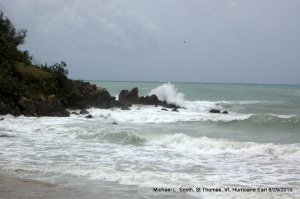 Photo: waves beating against rocky