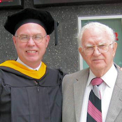 Photo: son and father at graduation