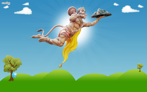 Graphic: Hanuman leaps great distances