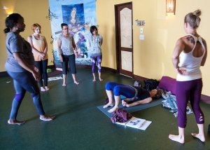 Photo: class in yoga teacher training