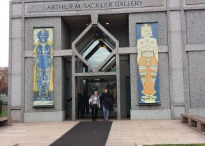Photo: entrance of museum with large banners